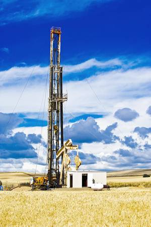 photo - Oil from Canada, North Dakota and Montana needs to be transported to the Gulf Coast through the Keystone XL pipeline. Pictured is a Continental Resources rig in North Dakota.  Photo provided