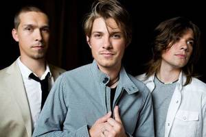 Brothers Isaac, Taylor and Zac Hanson of Tulsa pop-soul band Hanson will perform March 10 at the tribute concert for Woody Guthrie. Photo provided. <strong></strong>