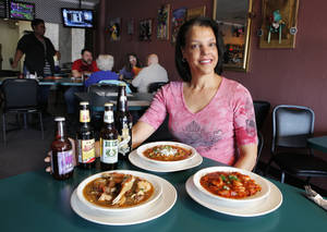 JAMBALAYA, a-crawfish pie and a-file gumbo? Where else but the Bayou