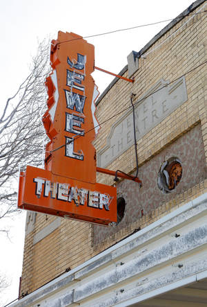 The Jewel Theater building still stands at NE 4 and Laird Avenue in Oklahoma City. It was one of several businesses owned by the same black family.