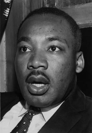 Martin Luther King Jr. is seen here in a photo from his July 29, 1960, visit to Oklahoma City. He was the keynote speaker at a rally at Calvary Baptist Church.